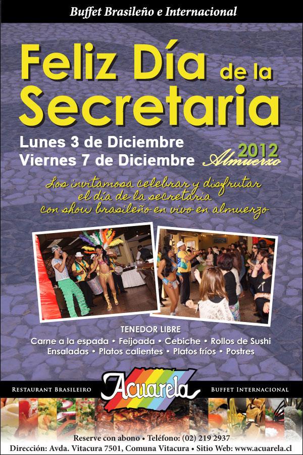 Día de la Secretaria en Acuarela