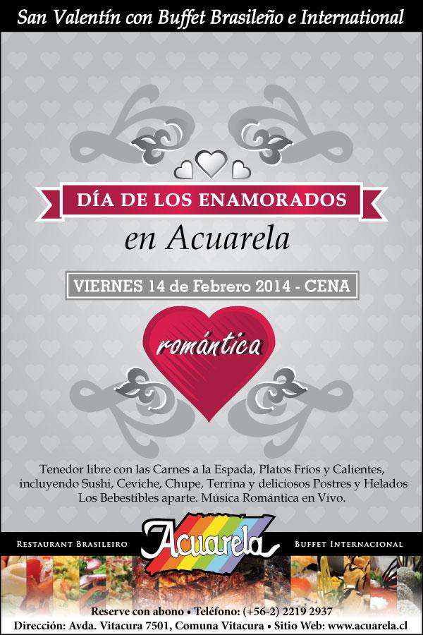 San Valentin en Acuarela