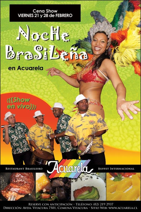 Noite Brasileira en Acuarela