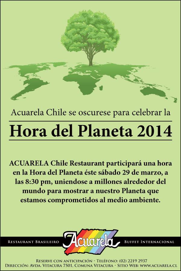 Hora del Planeta 2014 en Acuarela