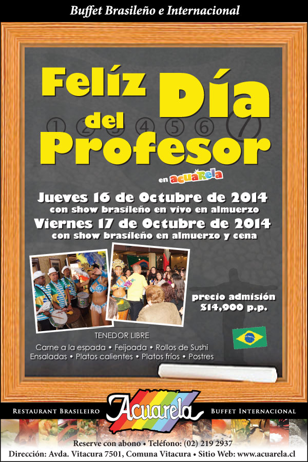 Celebraci�n D�a del Profesor en Acuarela