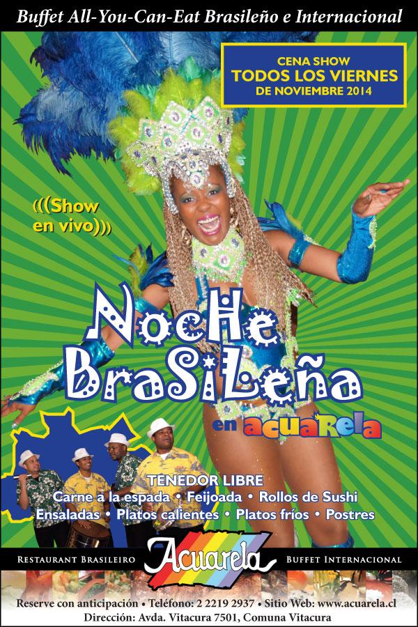 Show Noite Brasileira en Acuarela - Noviembre 2014