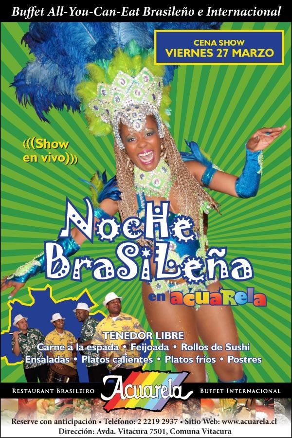 Show Noite Brasileira en Acuarela - Marzo 2015