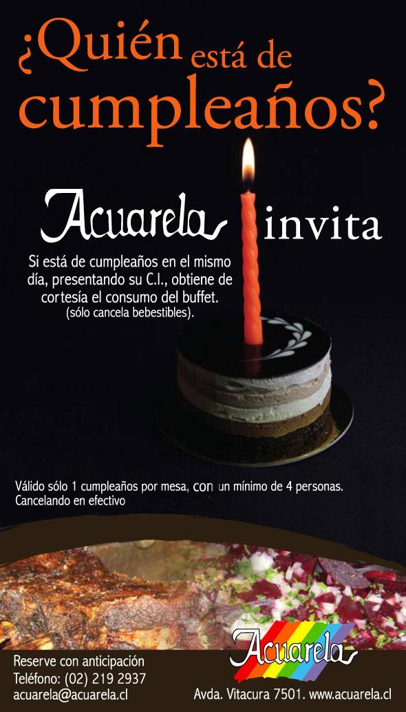 Cumpleaños en Acuarela